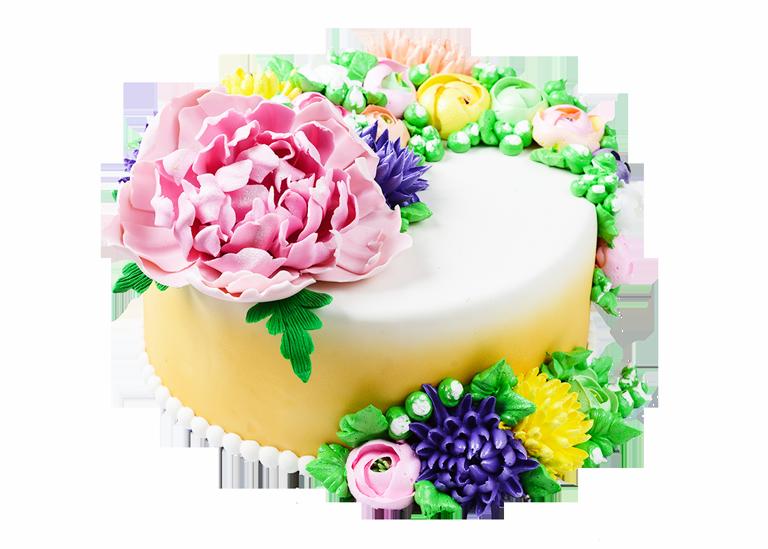 Заказной торт с цветами