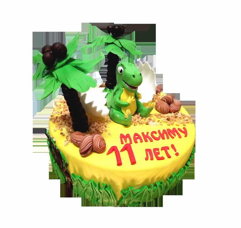 Торт на заказ с динозвром
