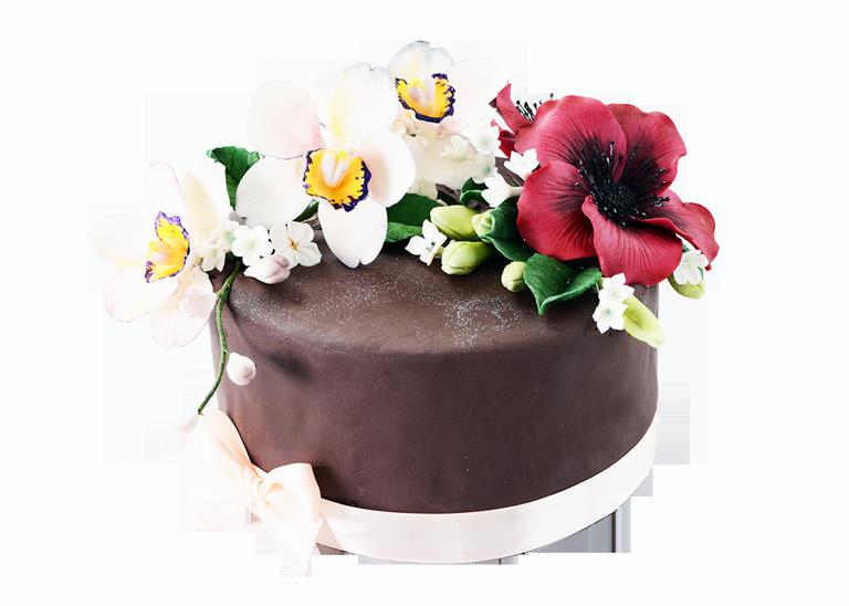 заказной торт с орхидеей
