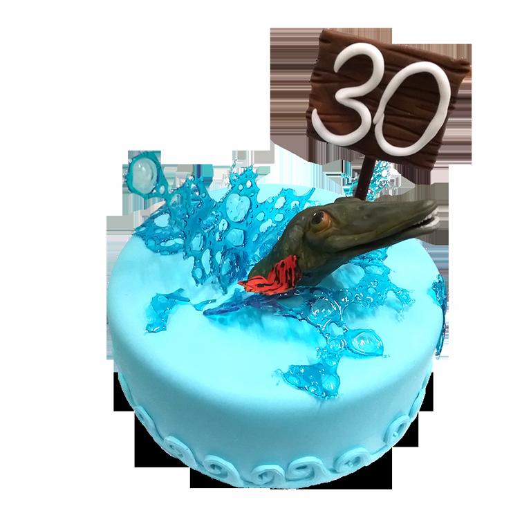 Заказной торт для рыбака